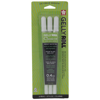 Bright White GellyRoll Pens - 3 Piece Set