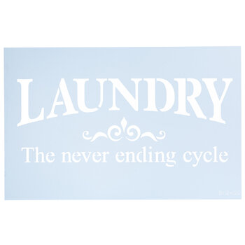 Laundry The Never Ending Cycle Stencil