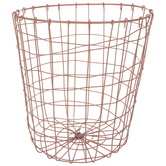 Peach Round Metal Basket