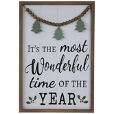 Wonderful Time Of The Year Wood Wall Decor