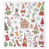 Elves & Snowmen Glitter Stickers