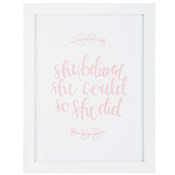 She Believed She Could Framed Wall Decor