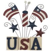 USA Stars & Flags Wood Decor