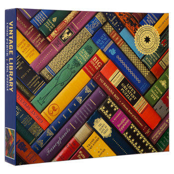 vintage library books puzzle