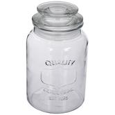 Embossed Glass Jar