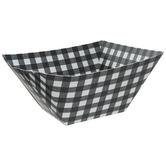 Black & White Buffalo Check Paper Bowls