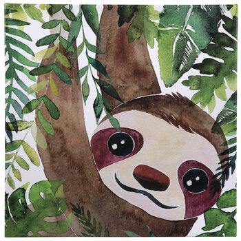 Jungle Sloth Canvas Wall Decor