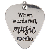 Music Speaks Guitar Pick Pendant