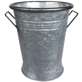 Galvanized Metal Container With Handles