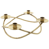 Gold Braided Metal Advent Candle Holder