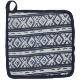 Navy & White Diamond Pot Holder