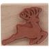 Flying Reindeer Rubber Stamp