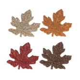Glitter Maple Leaf Felt Stickers