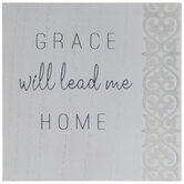 Grace Will Lead Me Home Wood Wall Decor