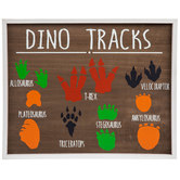 Dino Tracks Wood Wall Decor
