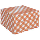 Orange & White Buffalo Check Box