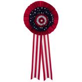 Patriotic Velvet Rosette Bow