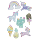 Sweet Unicorns Shaker Stickers