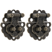 Antique Bronze Plated Clasps - 1 1/8""