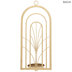 Gold Art Deco Arches Metal Wall Sconce