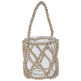 Glass Jar With Beaded Holder - Small