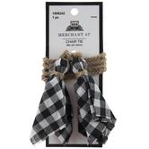 Black & White Gingham Chair Tie