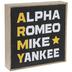 Army Phonetic Alphabet Wood Decor