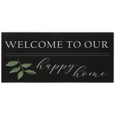 Welcome To Our Happy Home Wood Wall Decor