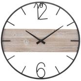 Industrial Wood Wall Clock