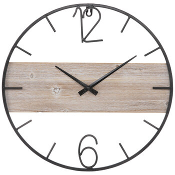 Industrial Wood Wall Clock