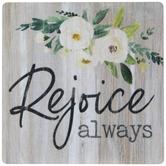 Rejoice Always Wood Magnet