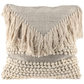 Woven Fringe Pillow Cover