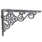 Gray Scroll Metal Bracket