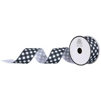 Black & White Gingham Grosgrain Ribbon