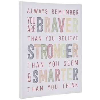 Braver, Stronger & Smarter Canvas Wall Decor