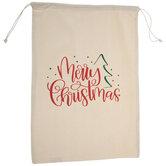 Merry Christmas Drawstring Gift Bag