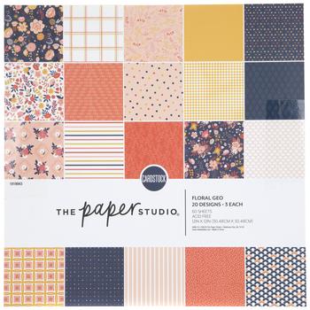 "Floral Geo Paper Pack - 12"" x 12"""