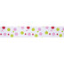 Pink & Green Dots Wired Edge Grosgrain Ribbon - 1 1/2