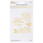Holiday Florals Background Glimmer Hot Foil Plates