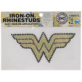 Wonder Woman Logo Rhinestone Iron-On Applique