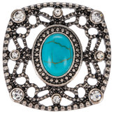 Square Turquoise Snap Charm