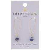 Blue & White Karatasi Paper Drop Earrings