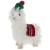Llama With Beanie