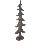 Brown Carved Tree Decor