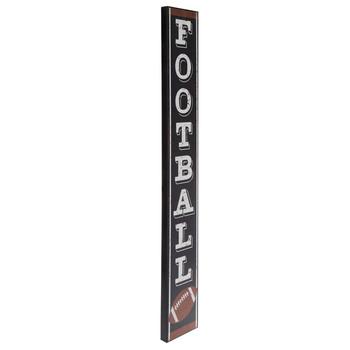 Football Vertical Wood Wall Decor