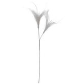 White Wedding Feather Pick