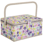 Patterned Sewing Basket