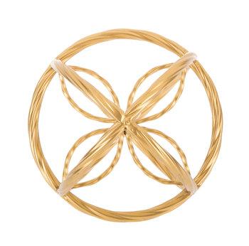 Gold Ornate Metal Decorative Sphere - Small