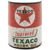 Texaco Half Oil Can Metal Wall Decor