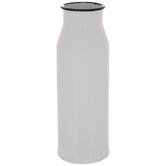 White & Black Metal Vase